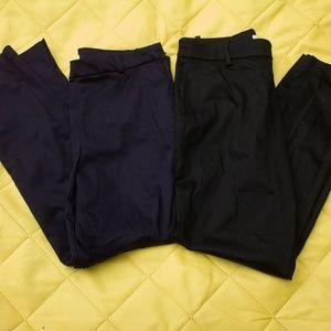 Bundle of Navy and Black Slacks